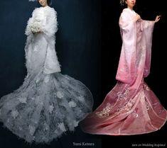 Modern Wedding Kimonos so pretty!