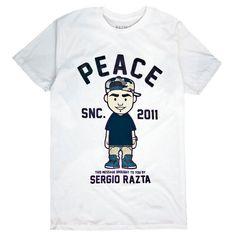 Limited Edition Sergio Razta - Peace Tee.