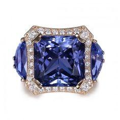 Gireaux Tanzanite and Diamond award winning ring