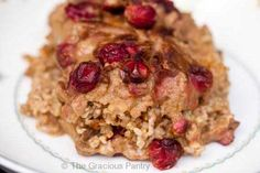 Clean Eating Pumpkin Oatmeal Casserole - maple syrup instead of honey.
