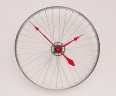 clock upcycled bike parts