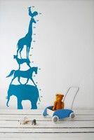 Ferm Living Animal Tower - Blue Wall Stickers #kids #wallpaper