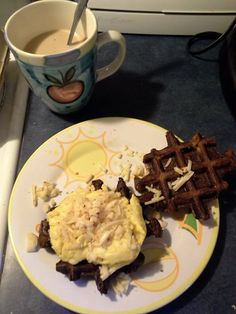 Smashed Potato Waffl