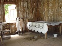 The second cabin from Allendale Plantation c. mid-1870's depicts life for the plantation worker after the Civil War.