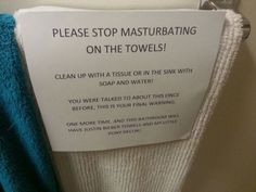 mother leaves note for horny son on towel rack