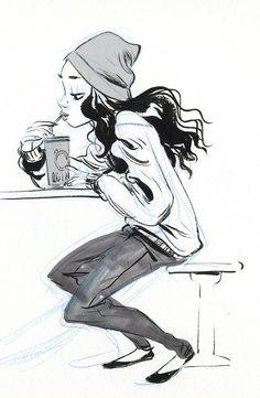 cartoon sketches, character design sketch, jake parker, artist particip, charact design, awesom artist, helen chen, coffee art, mingju helen