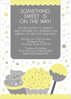 COLOR OPTIONS  Sweets Baby Shower Invitation  Boy or by papersquid, $18.00