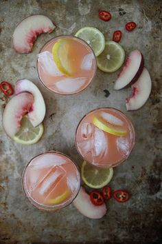 Spicy White Peach Lemonade by Heather Christo