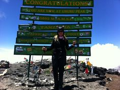 """Mary Ruth reached Uhuru Peak via the Grand Traverse in February 2013. She traveled alone and says it is """"The best trip in the world!!"""""""