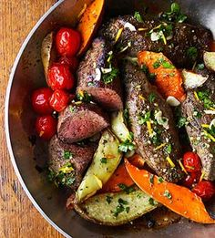 Beef and Sweet Potato Pan Roast