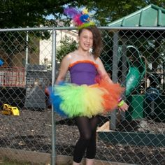 multi color neon tutu at the Shopping Mall, $28.00  Little miss thang on Facebook!