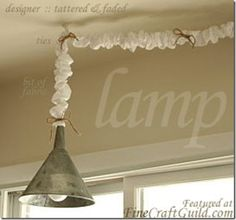 French Country vintage funnel kitchen lamp - howto tutorial