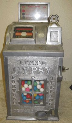 Little Gypsy Fortune Telling Vender Pulver Chewing Gum Machine Kola Pepsin Chocolate Cocoa Pulver's Wanted Antique Arcade Gumball Peanut and Slot Machines Trade Stimulators Dice Roulette Vintage Gambling Horse Race Breath Pellet yellow kid unlce sam happy hooligan foxy grandpa cop n robber clown woodpecker buster brown