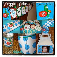 Veggie Tales Party Decor, etc.