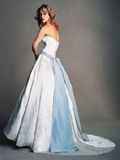ice blue wedding gown