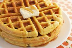 pumpkin waffles with Bisquick