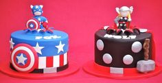 Superheroes Cakes- Captain America or Thor?