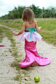 Mermaid Costume for the birthday girl to wear!!