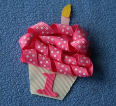 cupcake birthday Hair clip