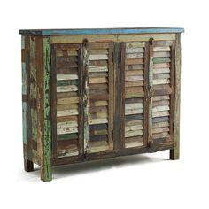 Vintage Shutter Doors Cabinet | Overstock.com Shopping - The Best Deals on Media/Bookshelves