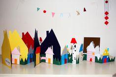 arrang idea, paper craft, villag stuff, pink milk, diy kid, hous, kid stuff, diy paper, parti