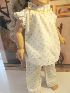 Baby Doll Pajamas Pajamas Eyelet trimmed Pajamas by fashioned4you
