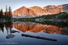 Mirror Lake, on the Snowy Range, not far from where Elise and Cody meet in Wyoming Solace
