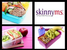 Great ideas for packing healthful lunches this school year. #healthy lunches #school lunches #skinnyms