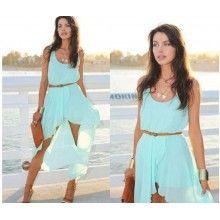 Maxi Mint Green Summer Dress