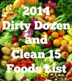 2014 Dirty Dozen and Clean 15 Foods List - Luv a Bargain
