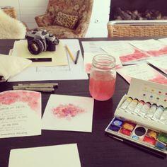 hand made wedding invitations, by sasha ritter & chi-lin sun, in progess
