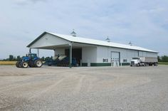 Morton Buildings machine storage/shop in MO. build farm, machin storageshop, morton build, build machin
