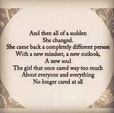 It came to the point that you had an enough... #realtalk Thoughts, Inspiration, Life, Quotes, Longer Care, Change, Thing...