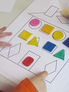 Match Button shapes to shape on paper.
