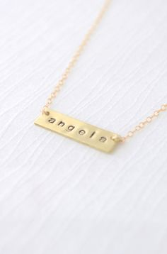 Name Necklace  Bar Necklace Gold Bar necklace