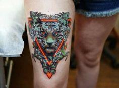 #tiger #tattoo #tattoos #wildlife #inked #leg #nature #cat #pretty