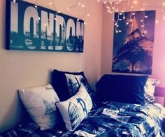 If I ever do my room I want it all grey, black and white with a theme of the fashion capitols of the world.