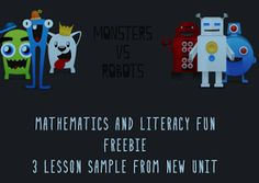 "FREE MATH LESSON - ""Monsters vs Robots, Math and Literacy Fun Freebie"" - Go to The Best of Teacher Entrepreneurs for this and hundreds of free lessons.   PreK-2   #FreeLesson   #TeachersPayTeachers   #TPT   #Math  http://www.thebestofteacherentrepreneurs.net/2013/08/free-math-lesson-monsters-vs-robots.html"
