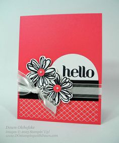 flower shop by Stampin' Up! Love the colors