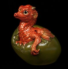 "WINDSTONE EDITIONS ""PIMENTO #1"" HATCHING EMPRESS DRAGON FIGURINE, STATUE"