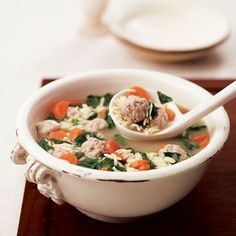 Chicken Soup with Mini Meatballs