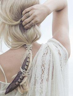 TatiTati Boho Style * Give me wings. #Feather #Accessory #Hair