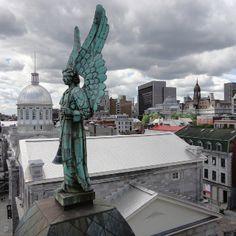 Left Angel on the roof of Notre Dame de Bon Secours