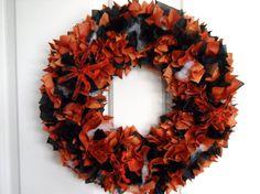 Halloween Wreath Door/Wall Decoration by Finnspirations on Etsy, £18.99;  Halloween wreath