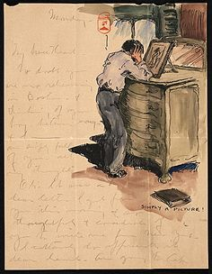 Paul Bransom to Grace Bransom, ca. 1905. Paul Bransom papers, Archives of American Art, Smithsonian Institution.