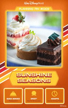Walt Disney World Planning Pins: Sunshine Seasons