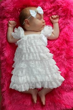 White christening Lace Dress Only Blessing by BabyBloomzBoutique