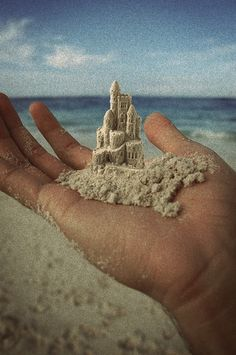 sandcastles in the sand.