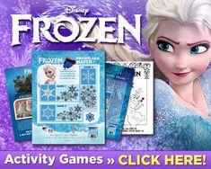 craft, frozen printabl, kid