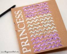 Embellishing Notebooks with Mod Podge Peel and Stick Stencils - It Happens in a Blink